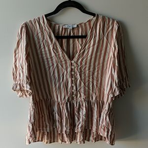 Striped madewell button-down top